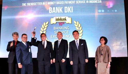 "Foto Komitmen Dukung Transaksi Nontunai, Bank DKI Jadi ""The 1st Trendsetter e-Money"""