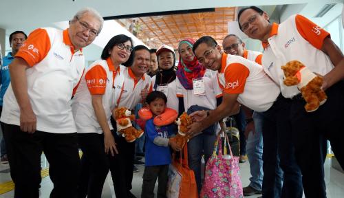 Foto Gandeng Garuda dan KAI, BNI Angkut 1.250 Pemudik Gratis