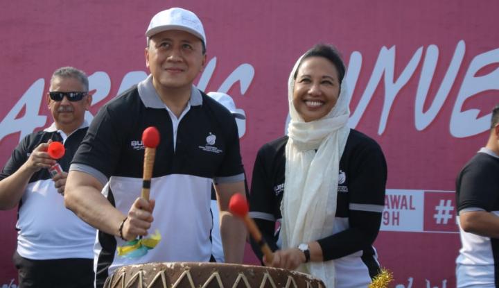 Foto Berita Di Hari Ulang Tahun, Menteri BUMN Lepas Peserta Mudik Gratis BUMN 2018