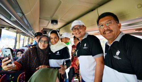 Foto Len Industri Berangkatkan 500 Peserta Mudik Gratis