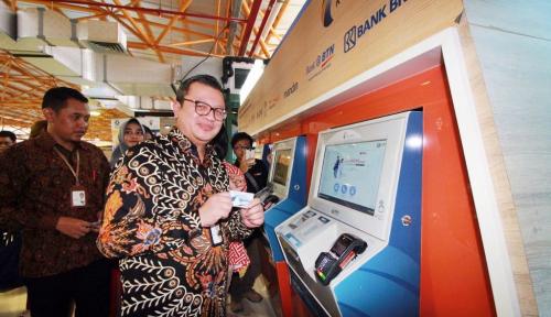 Foto Jakcard Bank DKI Bisa untuk Bayar Kereta Bandara