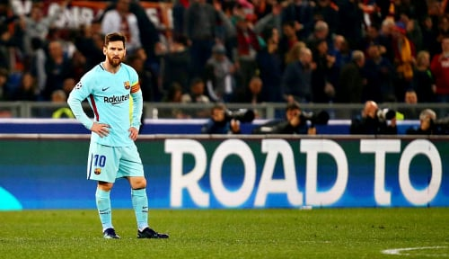 Foto 'Hattrick' Messi Antar Barca Kalahkan Leganes 3-0