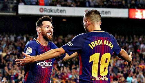 Foto Barcelona Kokoh Dipertandingan Liga Spanyol