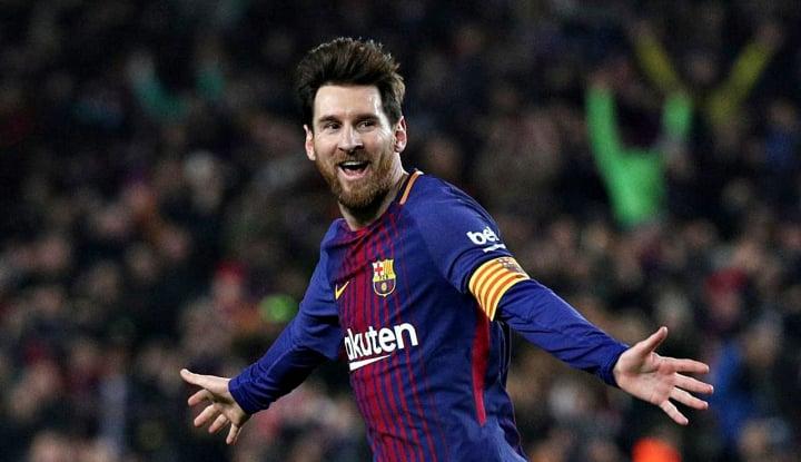 Foto Berita Gol Tunggal Messi Bawa Barca Perlebar Jarak dengan Atletico