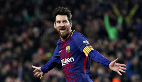 Foto Gol Tunggal Messi Bawa Barca Perlebar Jarak dengan Atletico