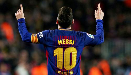 Foto Hattrick Messi Bawa Barcelona Tundukkan PSV 4-0 di Liga Champions