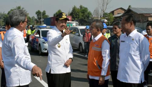 Foto Sambut Lebaran, Gubernur Sumut Gratiskan Tol Tanjung Morawa-Parbarakan