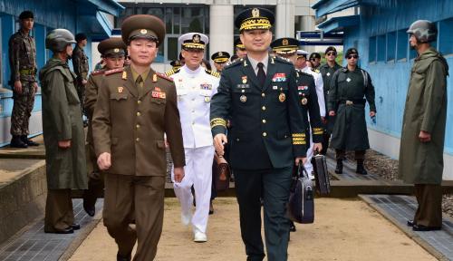 Foto Pertama, Korut dan Korsel Adakan Pembicaraan Militer