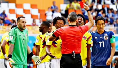 Foto Jepang Menang Dramatis 2-1 atas Kolombia