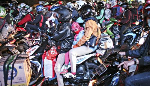 Foto Ada Program Mudik Gratis, Pemudik Sepeda Motor Turun 18,2%