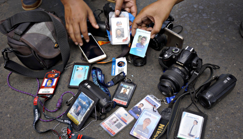 Foto Jurnalis Peliput Munajat 212 Dicekik Hingga Diseret, IJTI 'Berang'