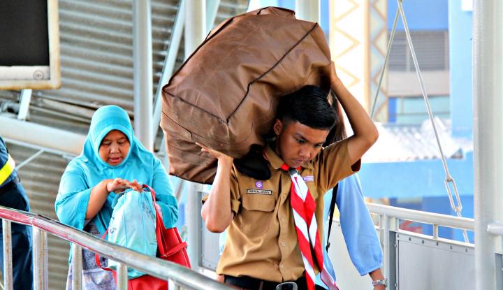 Foto Berita Pelabuhan Bakauheni Lampung Sepi Pemudik