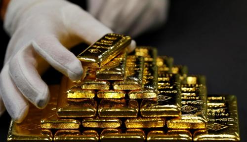 Foto Banjir Kasih Sayang Investor Surut, Emas Dunia dan Emas Antam Redup!
