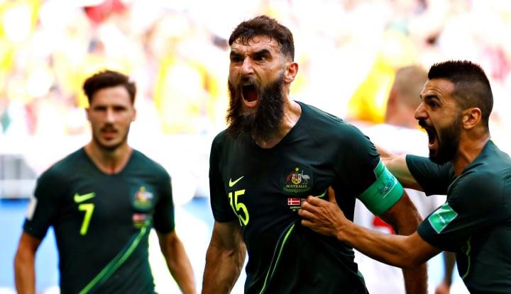 Foto Berita Australia Imbangi Denmark 1-1 di Fase Grup C Piala Dunia