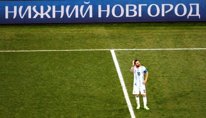 Foto Berita Menang Atas Nigeria, Akhirnya Messi 'Tersenyum'