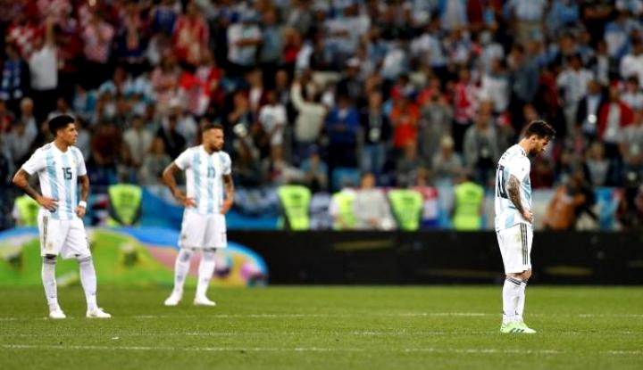 Foto Berita Kalah 3-0, Pelatih Argentina: Jangan Salahkan Messi