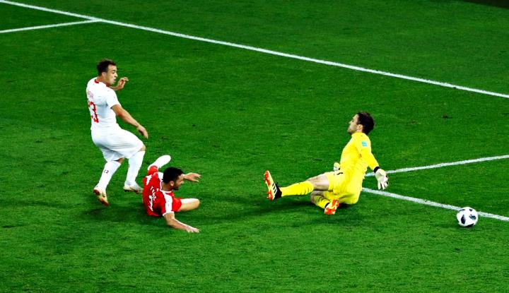 Foto Berita Swiss Permalukan Serbia dengan Skor 2-1
