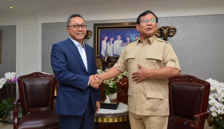 Foto Berita Pertemuan Prabowo-Zulkifli untuk Kalahkan Jokowi?