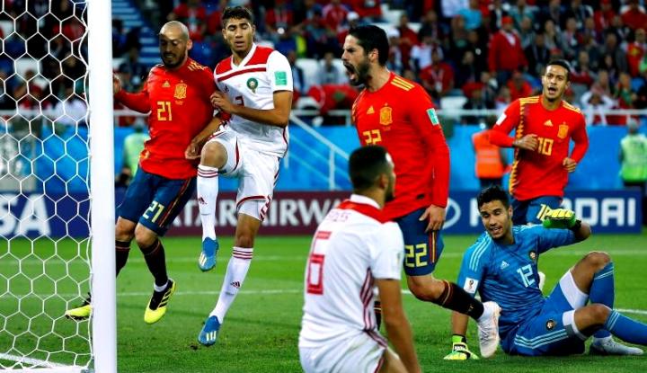 Foto Berita Hasil Sementara: Rusia vs Spanyol 1-1