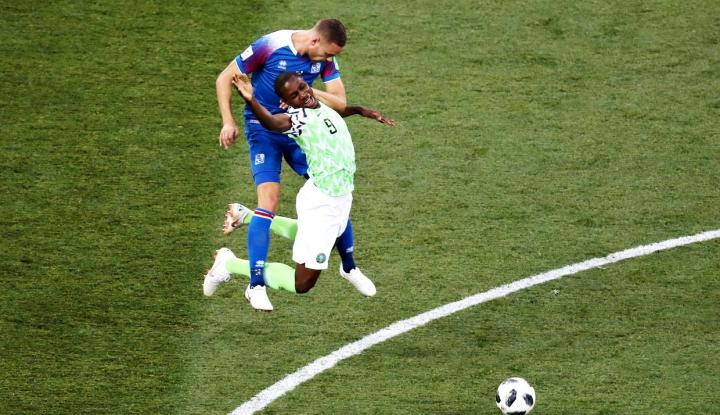 Foto Berita Nigeria Pecundangi Islandia 2-0