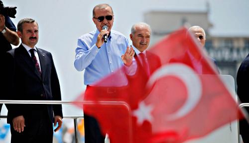 Foto Erdogan: Tak Seorang Pun Bisa Mengubah Turki