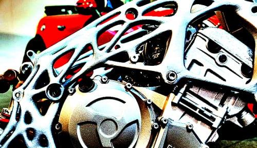 Foto BMW Cetak Kerangka Motor dengan 3D Printing