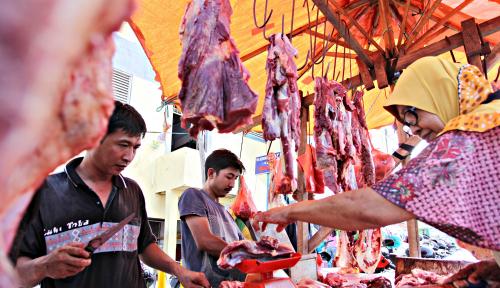Foto Harga Daging di Palu Tidak Alami Kenaikan