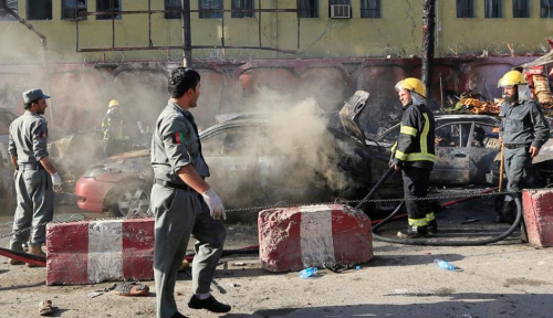 Foto Aksi Bom Bunuh Diri Terjadi Lagi di Afghanistan, 19 Orang Tewas