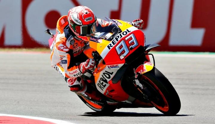 Foto Berita Untuk Kesembilan Kalinya, Marquez Berkibar di GP Jerman