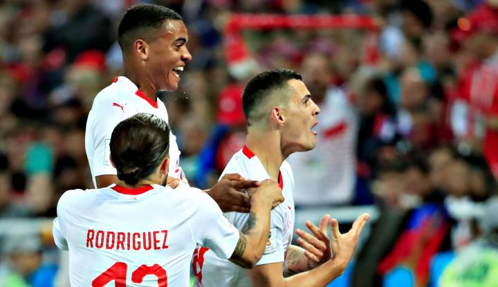 Foto Berita Rayakan Gol, Dua Pemain Swiss Lolos Hukuman Pertandingan