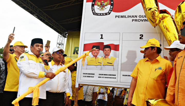 Foto Berita Index Indonesia: Elektabilitas Nurdin Halid-Aziz Teratas, NA-ASS dan IYL-Cakka Bersaing