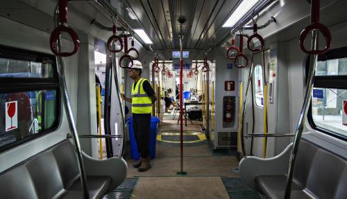 Foto Uji Coba LRT Dilakukan Selama Sebulan
