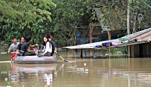 Foto Ratusan Rumah Terendam Banjir Setinggi 3 Meter di Aceh