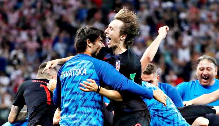 Foto Berita Gol Telat Mandzukic Lawan Inggris Antarkan Kroasia ke Final Piala Dunia 2018