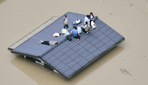 Foto Banjir Landa Jepang, 64 Orang Tewas