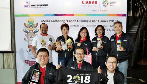 Foto Dukung Asian Games, Datascrip Sediakan Fasilitas Canon Corner