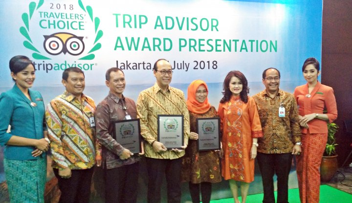 Foto Berita Garuda Indonesia Group Sabet TripAdvisor Travelers Choice Awards