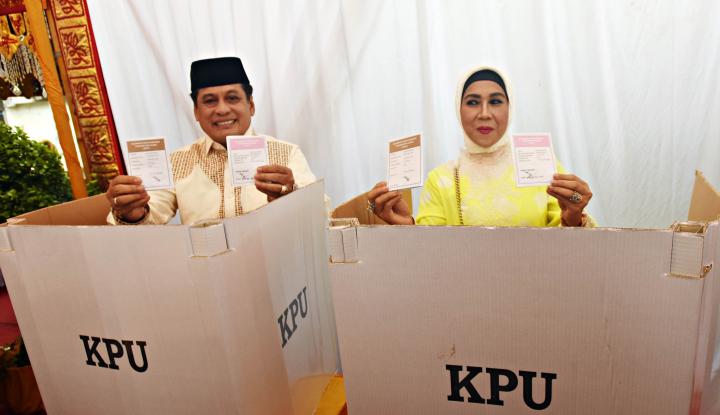 Foto Berita Belum Menyerah, Nurdin Halid Yakin Menang di Real Count