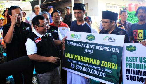 Foto ACT-Global Wakaf Siap Beri Bantuan Aset Usaha ke Muhammad Zohri