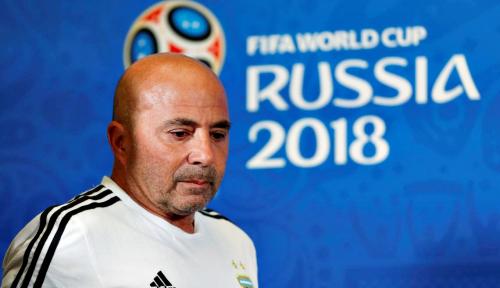Foto Sampaoli Resmi Mundur dari Kursi Pelatih Argentina