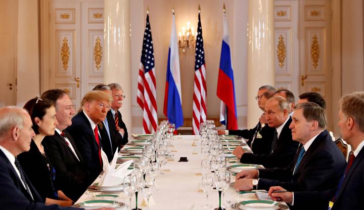 Foto Berita Di Hadapan Putin, Trump Tak Berani Buka Kasus Intervensi Rusia di Pilpres