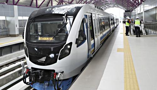 Foto Baru Jalan Dua Bulan, Penumpang LRT Palembang Capai 200 Ribu