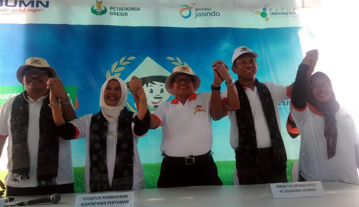 Foto Berita Dukung Gerakan GP3, Dua BUMN Jamin Produksi Petani Lewat Asuransi