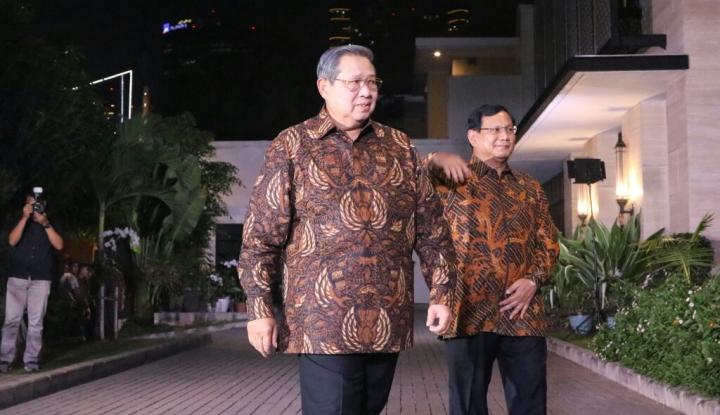 Saat Prabowo Kebingungan Cari Pintu Masuk Rumah SBY...