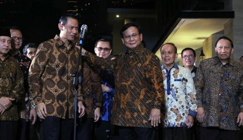 Foto AHY Blusukan, Kampanyekan Prabowo?