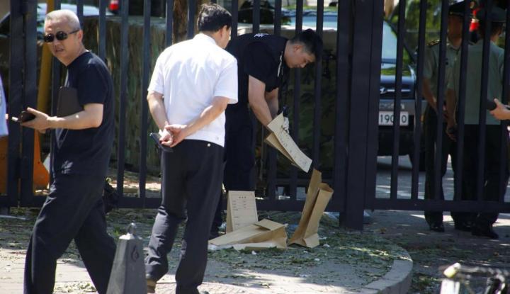 Foto Berita Terjadi Ledakan di Kedubes AS di China, Satu Orang Terluka