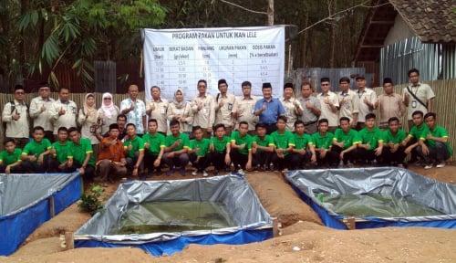 Foto Harapan Pusri pada Santri Terkait Pelatihan Kerajinan Bambu dan Budidaya Lele