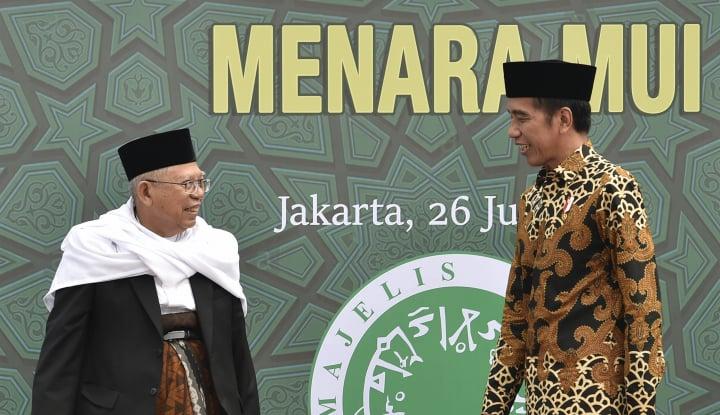 Foto Berita Daftar ke KPU, Jokowi-Ma'ruf Diantar Para Ketum Parpol