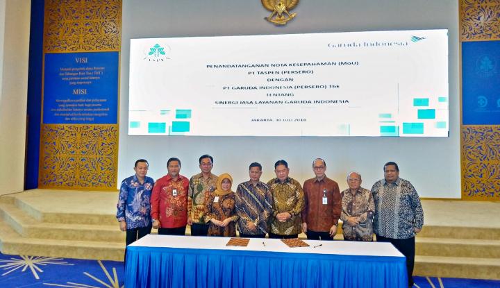 Garuda Indonesia Gandeng Taspen Kembangkan Pasar Pensiunan - Warta Ekonomi