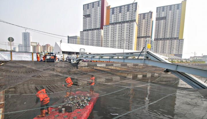 Foto Berita Asian Games Telah Usai, Jaring di Kali Item Piye?